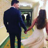 Sofía Vergara y Joe Manganiello la noche antes de su boda