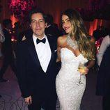 Sofía Vergara luciendo su cuarto vestido de boda