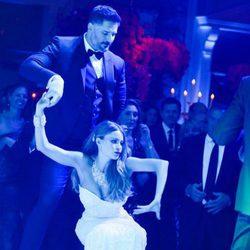 Sofía Vergara durante la fiesta de su boda