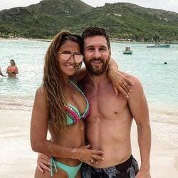 Leo Messi y Antonella Roccuzzo, muy cariñosos en su luna de miel