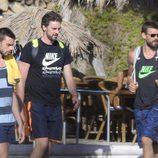 Adrià, Pau y Marc Gasol en Ibiza