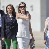La Reina Letizia en su despedida en Barajas al comienzo de su Viaje de Estado a Reino Unido