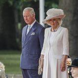 El Príncipe de Gales y la Duquesa de Cornualles en la ceremonia de bienvenida a los Reyes Felipe y Letizia por su Viaje de Estado a Reino Unido