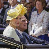 La Reina Letizia y el Duque de Edimburgo en coche de caballos en Londres