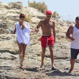 Cristiano Ronaldo y Georgina Rodríguez en la costa de las islas Pitiusas