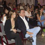 Alejandro Rubio y la hija de Terelu Campos, Alejandra, en la presentación de su libro
