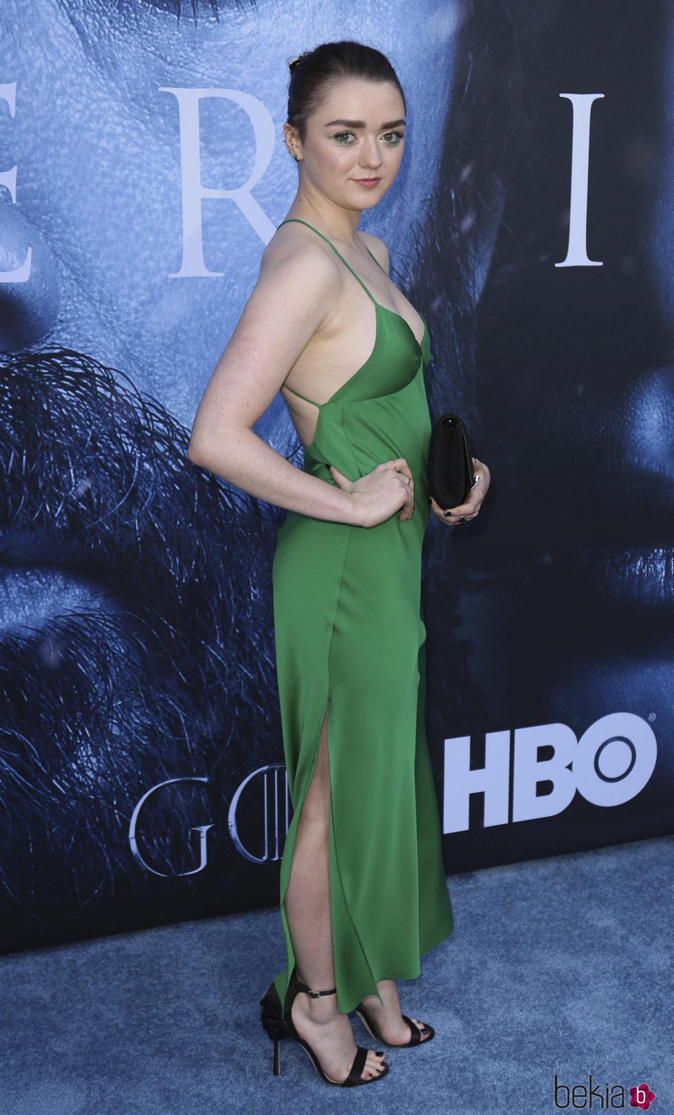 Maisie Williams en el estreno de la séptima temporada de 'Juego de Tronos'