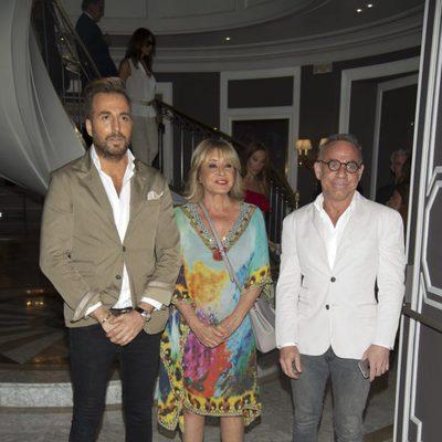 Mila Ximénez, Raúl Prieto y Joaquín Torres en la presentación del libro de Terelu