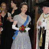 La Princesa Ana en la cena en honor a los Reyes Felipe y Letizia en Guildhall