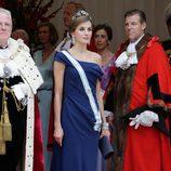 La Reina Letizia en la cena de gala en su honor en Guildhall