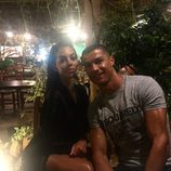 Cristiano Ronaldo y su novia Georgina Rodríguez durante las vacaciones