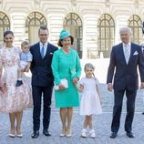 Los Reyes de Suecia, los Príncipes Victoria y Daniel y sus hijos Estela y Oscar en el 40 cumpleaños de Victoria de Suecia