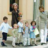 La Reina Sofía, la Infanta Cristina, Froilán, Victoria de Marichalar y Juan, Pablo y Miguel Urdangarin
