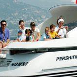 La Reina Sofía, la Reina Letizia, Froilán, Victoria de Marichalar, Jaime de Marichalar, Iñaki Urdangarin, Juan Urdangarin y Pablo Urdangarin en Mallorca