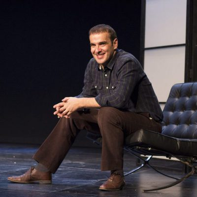Luis Merlo en la presentación de la obra de teatro 'El Crédito'