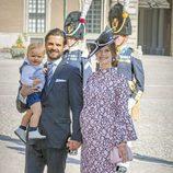 Sofia Hellqvist presume de embarazo junto a Carlos Felipe de Suecia y su hijo Alejandro en el 40 cumpleaños de Victoria de Suecia