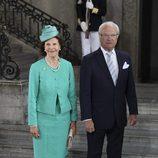 Carlos Gustavo y Silvia de Suecia en el 40 cumpleaños de Victoria de Suecia