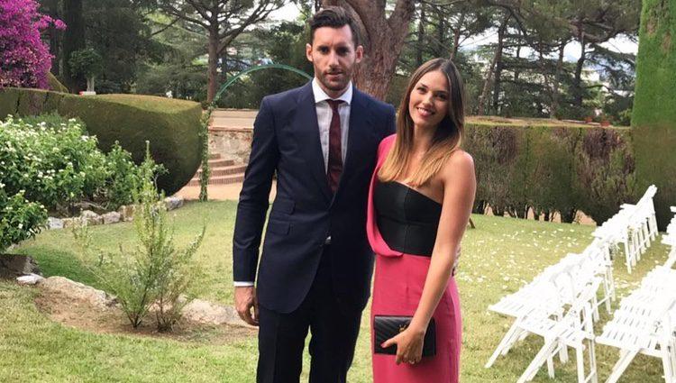 Helen Lindes y Rudy Fernández en la boda de Canco Rodríguez
