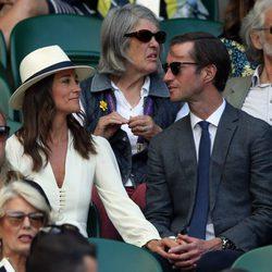 Pippa Middleton y James Matthews en la semifinal de Wimbledon