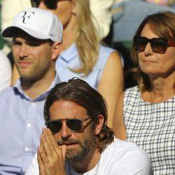 Bradley Cooper en la semifinal de Wimbledon 2017