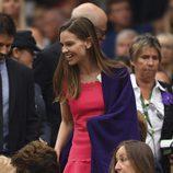 Hilary Swank en la final femenina de Wimbledon 2017