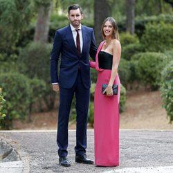 Helen lindes y Rudy Fernández en la boda de su amigo Canco Rodríguez