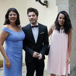 Blas Cantó, Yolanda Ramos y Beatriz Luengo en la boda de Canco Rodríguez