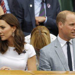 Kate Middleton y el Príncipe Guillermo en la final masculina de Wimbledon 2017