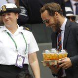 James Middleton en al final masculina de Wimbledon 2017