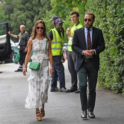 Pippa Middleton y James Middleton en la final masculina de Wimbledon 2017