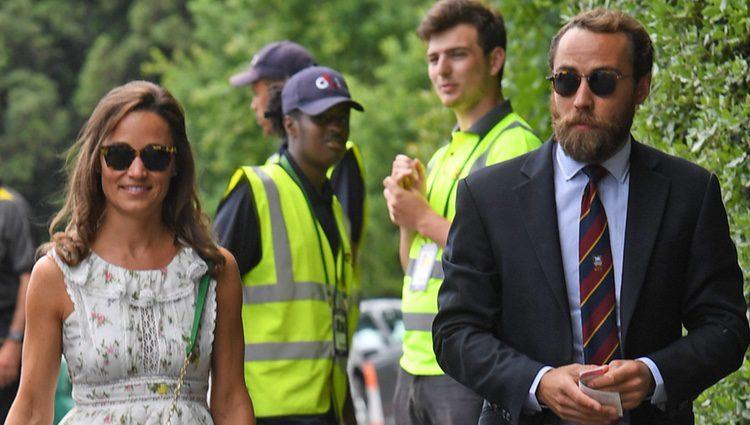 Pippa Middleton y James Middleton en la final masculina de Wimbledon 2017