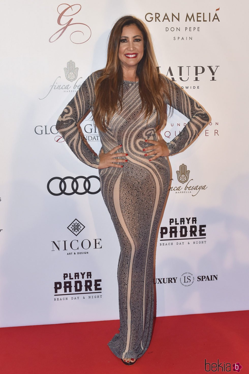 María Bravo en la gala Global Gift de Marbella 2017