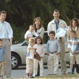 Los Reyes Felipe y Letizia, la Princesa Leonor, Froilán, Victoria de Marichalar, la Infanta Cristina, Iñaki Urdangarin y sus hijos Juan, Pablo, Miguel e Ir