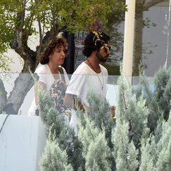 Bosco Álvarez sale a comer con su hermana Lara Álvarez y su madre