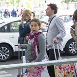 Andrea Janeiro acompañada por su madre Belén Esteban y su exmarido Fran Álvarez