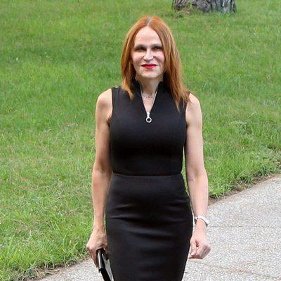 Antonia San Juan llegando al homenaje póstumo de David Delfín