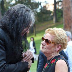 Mario Vaquerizo y María González Corbacho en el homenaje de David Delfín