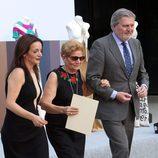 María González e Iñigo Méndez de Vigo en el homenaje a David Delfín