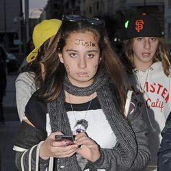 Andrea Janeiro acudiendo a un concierto de Justin Bieber