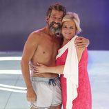 José Luis Losa con su mujer Inma en la gala final de 'Supervivientes 2017'