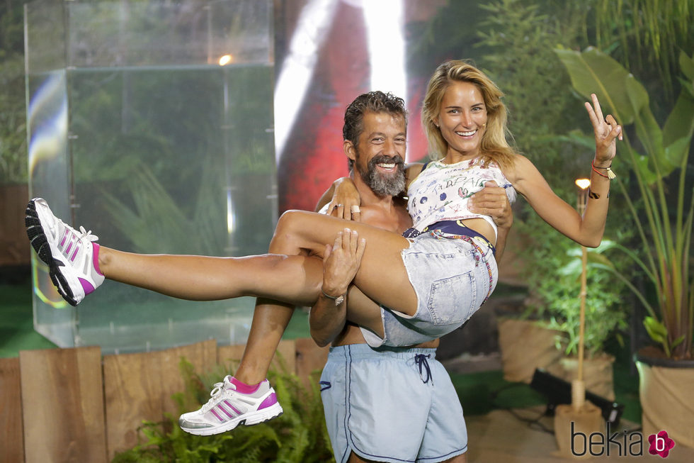 José Luis y Alba Carrillo en la gala final de 'Supervivientes 2017'