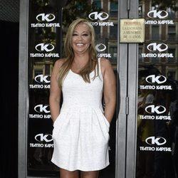 Belén Esteban en la entrada de la discoteca de la fiesta de cumpleaños de Andrea Janeiro