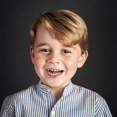 Retrato del Príncipe Jorge de Cambridge por su cuarto cumpleaños