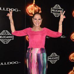 Rosa Benito en la fiesta de la final de 'Supervivientes 2017'