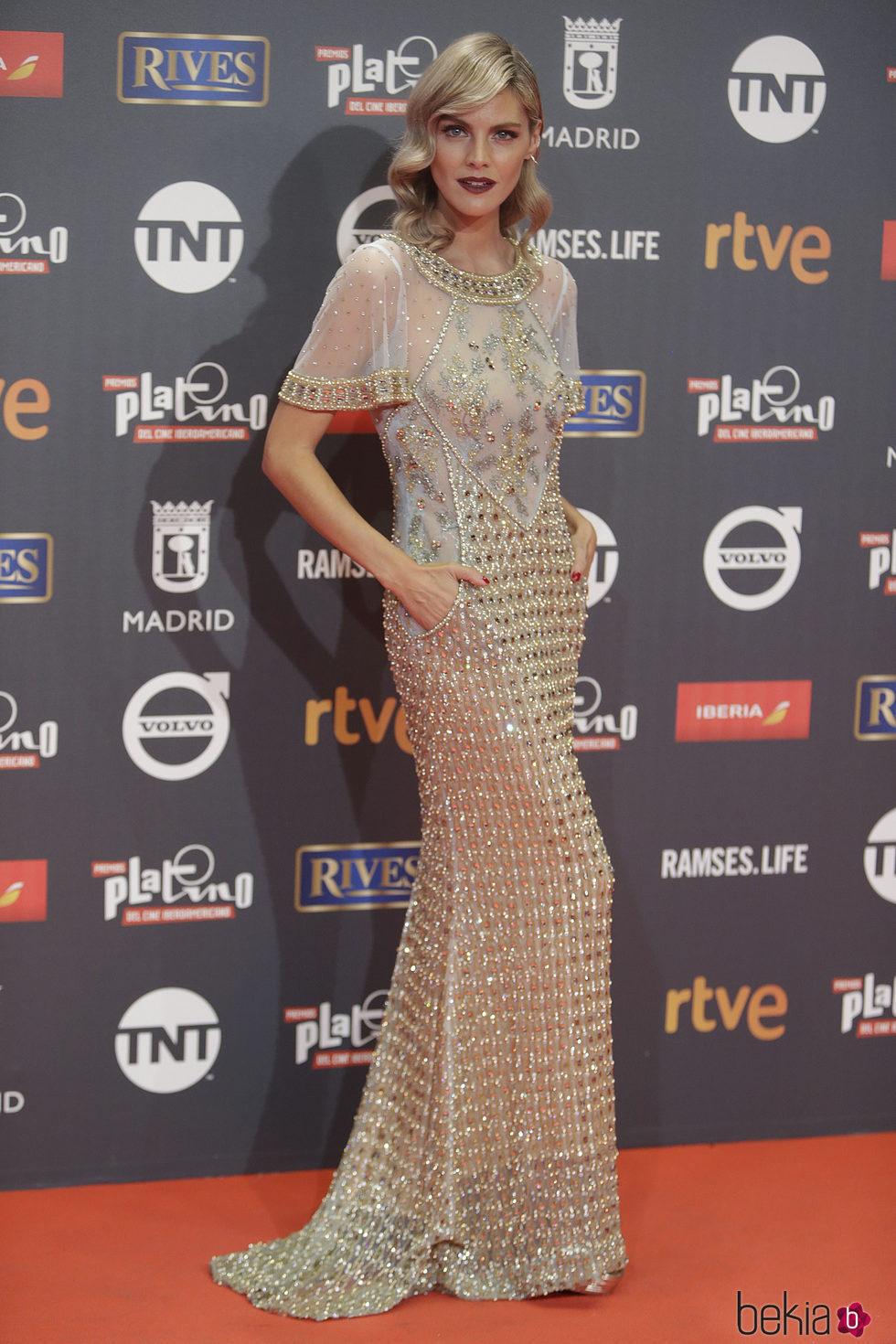 Amaia Salamanca en los Premios Platino 2017