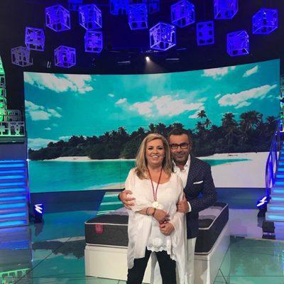 Carmen Borrego y Jorge Javier Vázquez en el plató de 'Supervivientes 2017'
