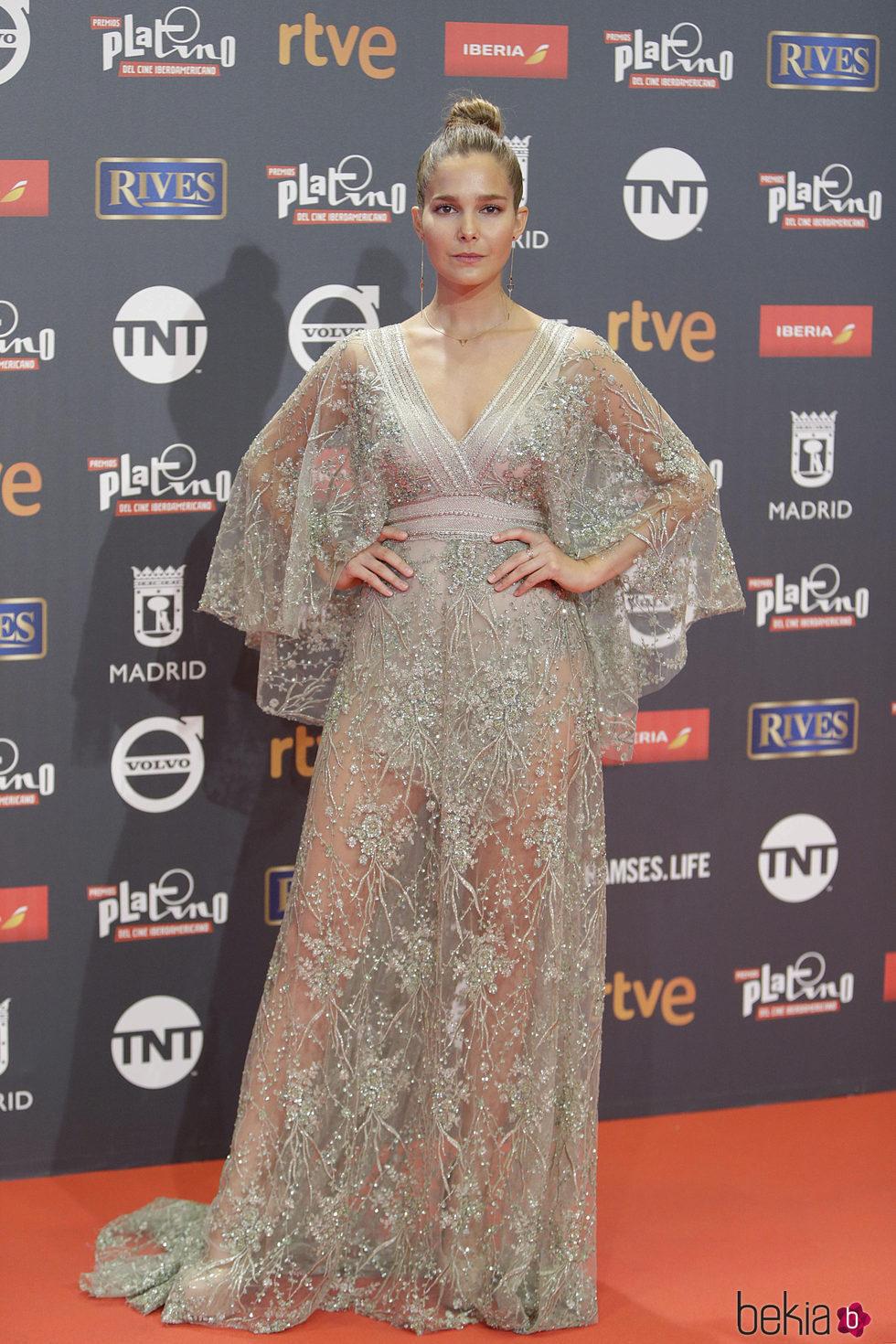 Natalia Sánchez en los Premios Platino 2017