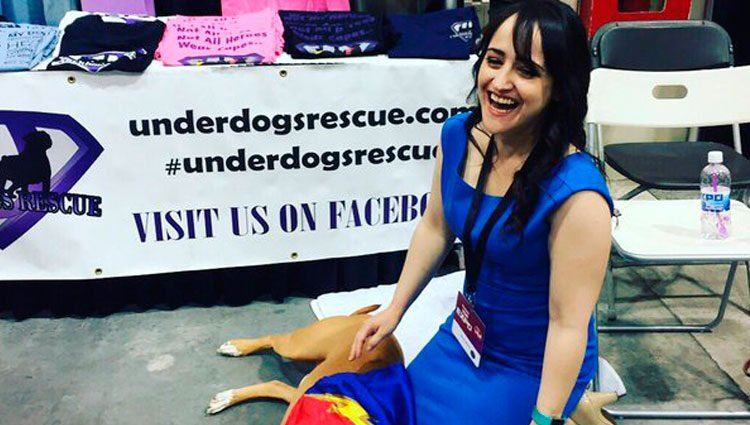 Mara Wilson participando en un acto por los derechos de los animales