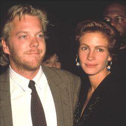 Julia Roberts y Kiefer Sutherland en los años 90