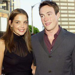Katie Holmes y Chris Klein en el estreno de 'American Pie 2'